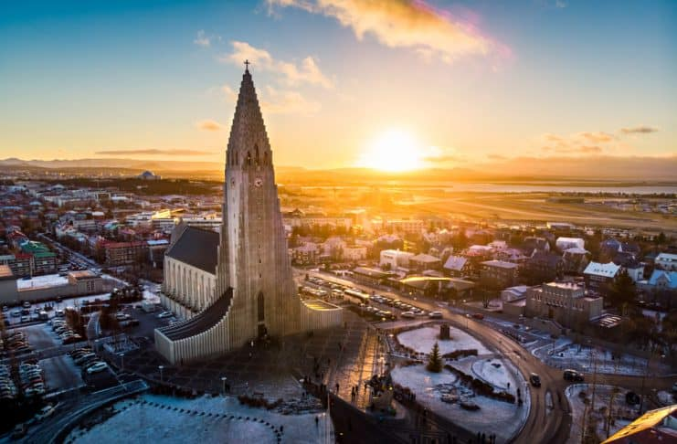 Reykjavik highlights from a panoramic view