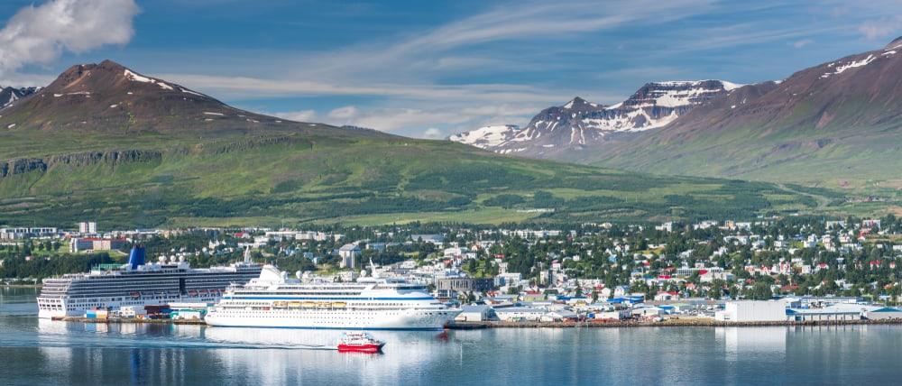ferry boarding in akureyri, Iceland