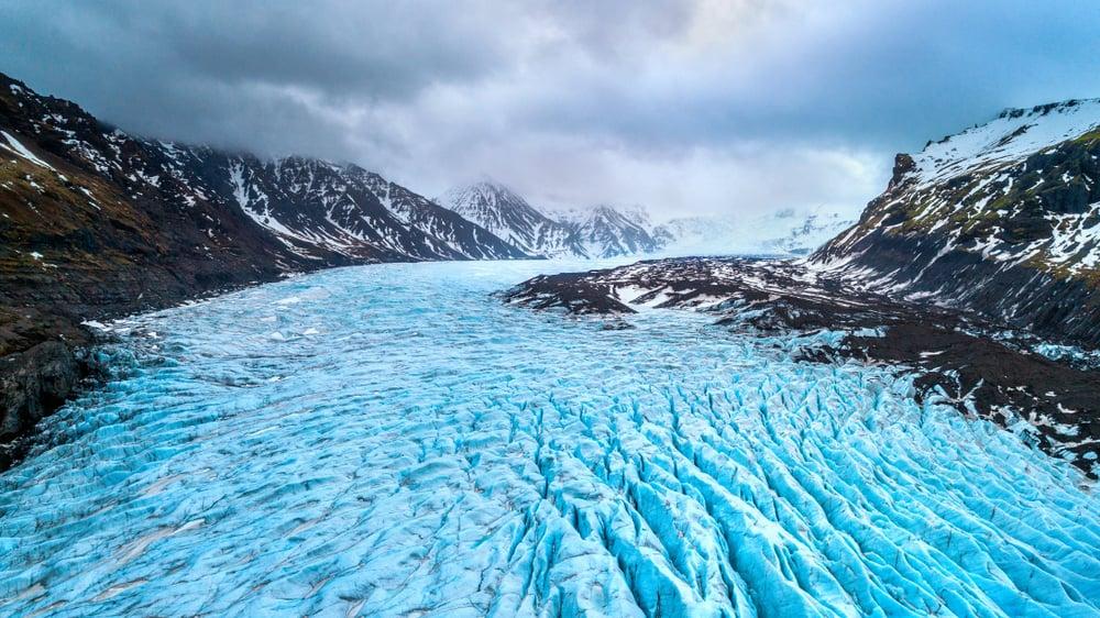 Massive glacier tongue in Iceland