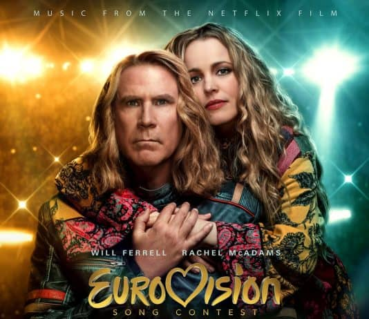 movie poster of eurovision song contest the sorty of fire saga