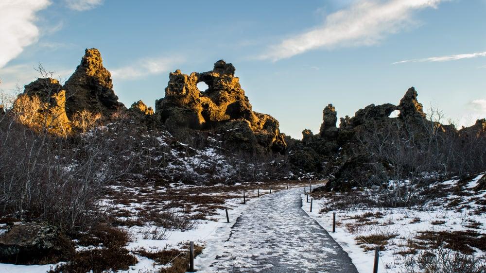Dimmuborgir lava pillars