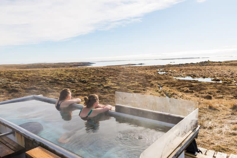 Two girls taking a thermal bath in Iceland - Icelandic woman: Feminism in Iceland